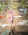ひとつき 2012 100.0×80.3㎝ キャンバスに油彩、ボールペン (C)Rina Mizuno