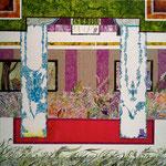 むこうがわ 2012 46×46㎝ キャンバスに油彩、ボールペン (C)Rina Mizuno