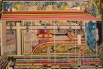 シュヴァル・レイヤー 2013 194.0×130.3㎝ キャンバスに油彩、ボールペン、鉛筆 (C)Rina Mizuno