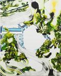 泉 2013 100.0×80.3㎝ キャンバスに油彩、ボールペン (C)Rina Mizuno