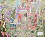 このつぎへ 2013 72.7×60.6㎝ キャンバスに油彩、ボールペン (C)Rina Mizuno