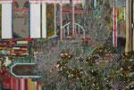 庭 2011 194.0×130.3㎝ キャンバスに油彩、ボールペン、鉛筆 (C)Rina Mizuno