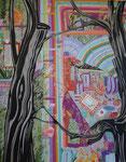 戸棚 2013 144.5×112.0㎝ キャンバスに油彩、ボールペン (C)Rina Mizuno