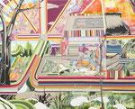 Dazzle Painting 2013 162.0×130.3㎝ キャンバスに油彩、ボールペン (C)Rina Mizuno