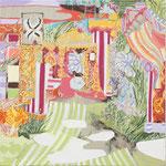 とびら 2013 33.3×33.3㎝ キャンバスに油彩、ボールペン (C)Rina Mizuno