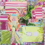 水平図 2013 33.3×33.3㎝ キャンバスに油彩、ボールペン (C)Rina Mizuno