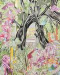 きのむこう 2013 100.0×80.3㎝ キャンバスに油彩、ボールペン (C)Rina Mizuno