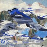 """Murnau im Blauen Land"", 30x30, 2018, Regina Wuschek"