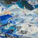 """""""Blaues Land"""", 70x70, 2018, Regina Wuschek"""