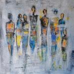 Meeting - Acryl 60 x 60 = € 130