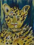 Wildcat - Acryl 30 x 38 (außen 47 x 57) = 95 incl. Rahmen
