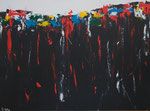 Abwärts - Acryl 80 x 60  € 120