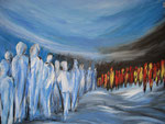Begegnungen - Acryl 80 x 60 = € 200 incl. Rahmen