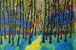 Lichtung - Tusche/Airbrush 80 x 60 = € 180