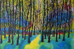 Lichtung - Tusche/Airbrush 80 x 60 = € 160