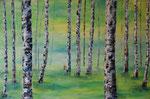 Bäume abstrakt 1 - Acryl 100 x 60 = € 220 incl. Rahmen