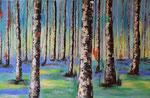 Bäume abstrakt 2- Acryl 200 x 60 = € 220 incl. Rahmen