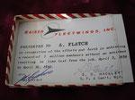 KAISER FLEETWINGS (PRESENTATION CARD)