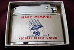NAVY MEMPHIS CREDIT UNION NATIONWIDE JAPAN LIGHTER CIRCA 1960's