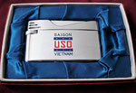 USO SAIGON, VIETNAM TRADESHIP LIGHTER VIETNAM WAR DATED 1968