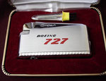 BOEING 727 CROWN JET FLAME LIGHTER CIRCA 1960's