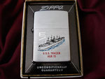 USS TRACER AGR-15 (White Deck Efficiency E) VIETNAM ERA DATED 1964