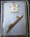 USS  SACRAMENTO AOE-1 WINDPROOF LIGHTER VIETNAM ERA CIRCA 1960's
