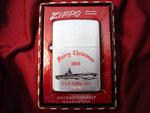 """USS CORAL SEA CVA-43 """"MERRY CHRISTMAS 1955"""" CIRCA 1955"""