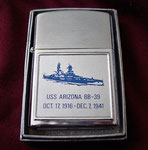 USS ARIZONA MEMORIAL BARLOW LIGHTER CIRCA 1960's