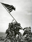 USMC FLAG RAISING ON MT SURIBACHI IWO JIMA