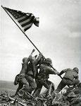 USMC FLAG RAISING ON MT SURIBACHI IWO JIMA