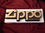 ZIPPO BRASS PAPER WEIGHT CIRCA 1980's