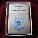 USS PLEDGE MSO-492 PRINCE ROCKY LIGHTER VIETNAM ERA CIRCA 1960's