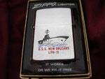 USS NEW ORLEANS LPH-11 (RECOVERY SHIP) SKYLAB II VIETNAM ERA CIRCA 1973