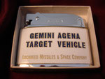 LOCKHEED MISSILE & SPACE COMPANY NASA GEMINI (AGENA) EXTRA CARE REVERSE SIDE