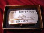 USS RUPERTUS DD-851 (BOBO BUCKLE) VIETNAM ERA CIRCA 1960's