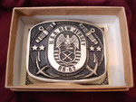 USS NEW JERSEY BB-62 (GREAT AMERICAN DESIGN WORKS BUCKLE) 4TH RECOMISSIONING CIRCA 1980's