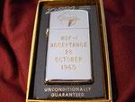 "GRUMMAN W2F-1, ""Acceptance 28  October 1960"" (SLIM) CIRCA 1960"