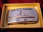 USS  R. K. TURNER CG-20 (BOBO BUCKLE) VIETNAM ERA CIRCA 1960's
