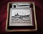 USS NEW JERSEY BB-62 (COLIBRI MONOPOL LIGHTER) KOREAN WAR ERA CIRCA 1950's