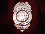 USS NEW JERSEY BB-62 (MASTER-AT-ARMS BADGE) KOREAN WAR CIRCA 1950's