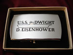USS DWIGHT D. EISENHOWER CVN-69 ZIPPO BELT BUCKLE CIRCA 1970's