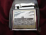 USS FORRESTAL CVA-59 (COLIBRI LUXURY LIGHTER) VIETNAM ERA CIRCA 1960's