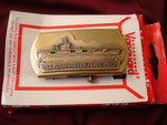 USS ABRAHAM LINCOLN CVN-72  VANGUARD BELT BUCKLE CIRCA 1980's