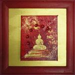 Buddha rouge et or