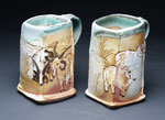 Jacob and Southdown Sheep Mugs by Catherine Stasevich