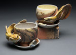 Muddy Bottoms Mugs and Saucers by Catherine Stasevich