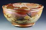 Panfish Serving Bowl, Outer Detail by Catherine Stasevich