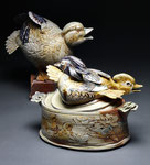 Carolina Wood Ducks Casserole with Call Duck Gravy Boat by Catherine Stasevich