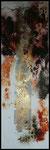 5.encre de vitrail , feuille d'argent, 40x120 cm